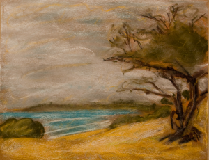 Overcast a pastel painting by Robert Jackson